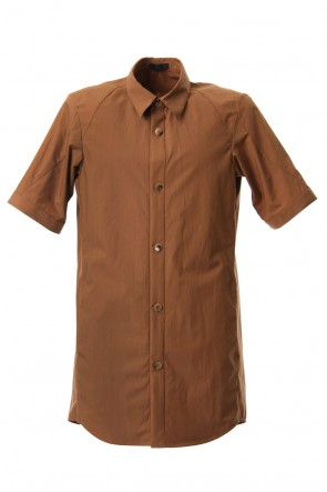 DEVOA 19SS Short Sleeve Shirt Cotton Hard Wash - Camel
