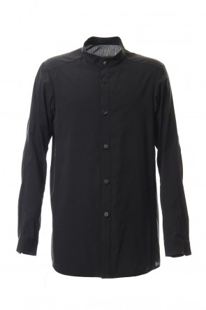 DEVOA 20SS Long Shirt Silk cotton sandblast Black