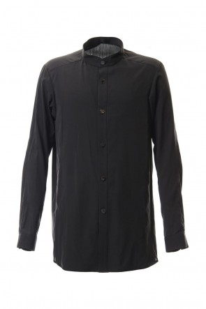 DEVOA 20SS Long Shirt Silk cotton sandblast Charcoal