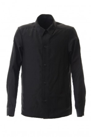 DEVOA 20SS Open collar shirt silk tencel sandblast Black