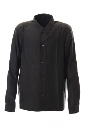 DEVOA 20SS Open collar shirt silk tencel sandblast Charcoal