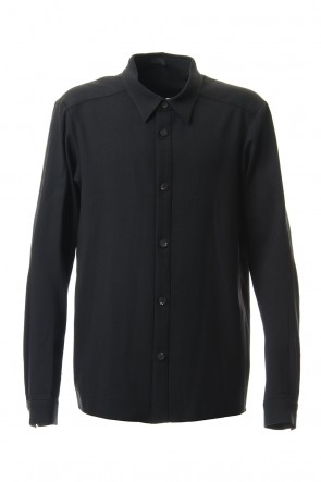 DEVOA 19-20AW Shirt virgin wool 4way stretch Black