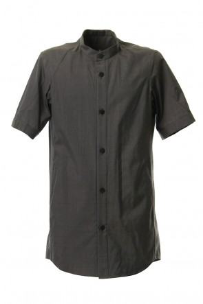 DEVOA 19SS Short sleeve shirt Virgin wool silk - Gray