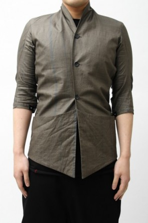 Silicone Coating Linen Check Jacket