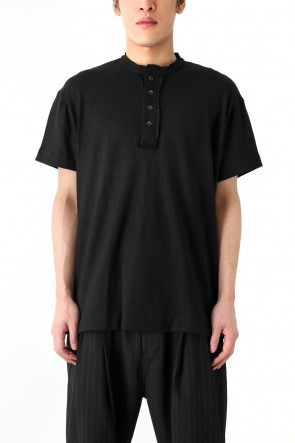 Placket Collar Oversized T-Shirt