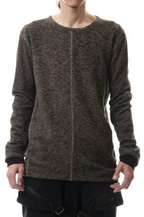 D.HYGEN 20-21AW Slab jersey Layered Long sleeve T-shirt Wood Gray