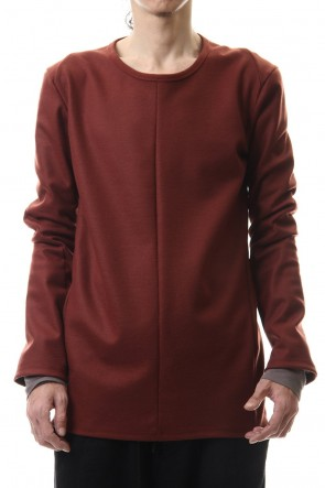 D.HYGEN 20-21AW Wool super100s Smooth layered Long sleeve T-shirt Wine