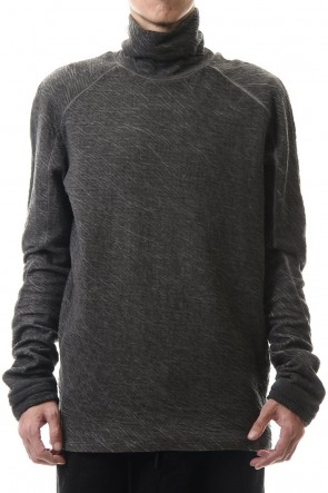 D.HYGEN 20-21AW Dual layered Cotton Wool jersey High neck Long sleeve T-shirt Charcoal