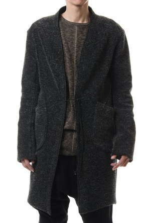 D.HYGEN 20-21AW Kenpi wool Boa Long cardigan Black