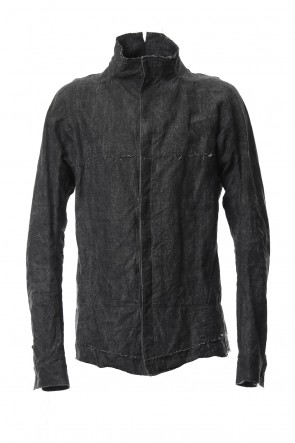 SADDAM TEISSY 18-19AW Ink coated linen shirt