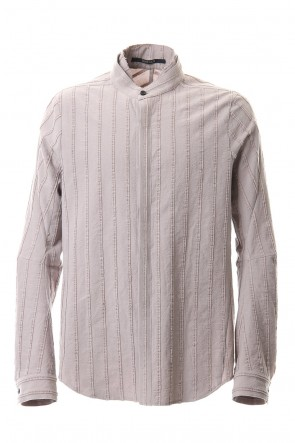 D.HYGEN 20-21AW Cotton Wool 3D stripe Layered collar shirt Gray