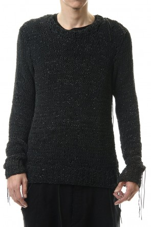D.HYGEN 20-21AW Sheep leather Knit pullover