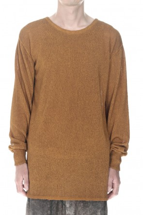 D.HYGEN22SSCold Dyed Washi(Japanese Paper)Knit Pullover  Mustard