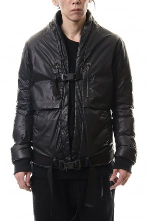 D.HYGEN 20-21AW Carbon coating Nylon down Bomber jacket
