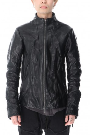 D.HYGEN 21SS Limited Horse Leather High-Neck Jacket Black
