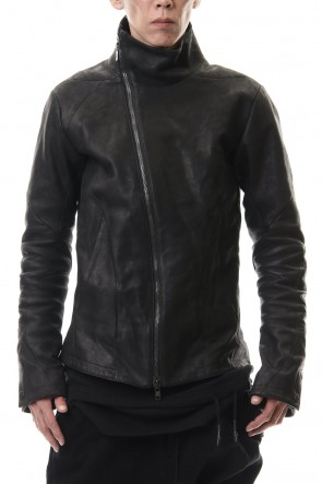 D.HYGEN 20-21AW Horse leather High neck jacket