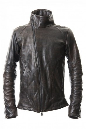 D.HYGEN 20-21AW Wood skin dyed Horse leather jacket