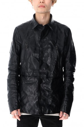 D.HYGEN 21SS Horse Leather Shirt Jacket Black