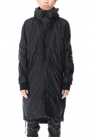 D.HYGEN 21SS Carbon Coated Nylon Hood Coat