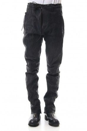 SADDAM TEISSY 19-20AW Horse Leather Slim Pants - ST107-0019A
