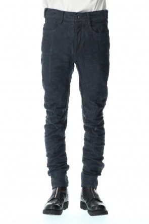 D.HYGEN 21SS Slub Jacquard Denim 3D Curved Slim Pants Charcoal