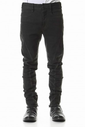 SADDAM TEISSY 20SS Over Cold Dyed Curve Slim Pants Charcoal Khaki