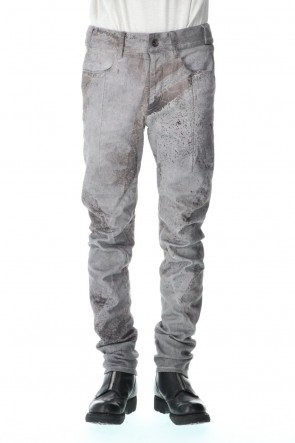 D.HYGEN 21SS Over Cold Dye Print 3D Curved Slim Pants