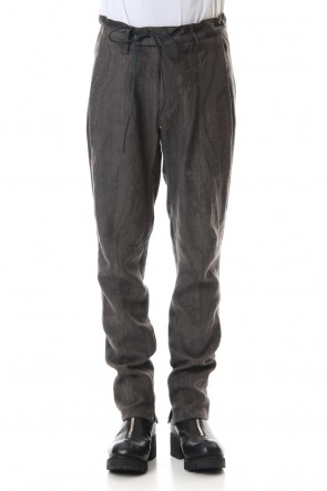 D.HYGEN20SSInk Frow Dyed Linen Tuck Tapered Pants