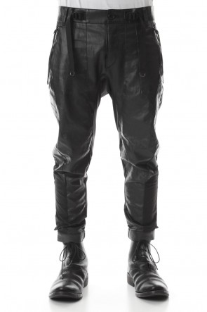D.HYGEN20SSCoated Linen Tapered Cropped Pants
