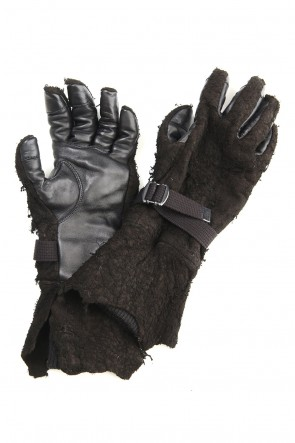 D.HYGEN 20-21AW Destroy Deer skin Long gloves