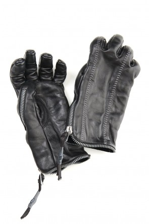 D.HYGEN 20-21AW Horse Leather Zip Glove - ST108-0820A