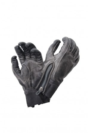 SADDAM TEISSY 18-19AW Horse leather cold dyed over lock glove