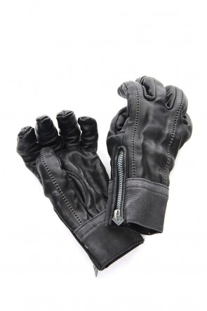 SADDAM TEISSY 18-19AW Horse leather over lock glove