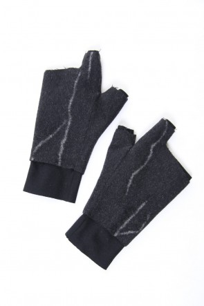 SADDAM TEISSY 18-19AW Pure cashmere needle punch fingerless glove