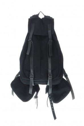 D.HYGEN20-21AWJute x Cotton Military Twill Bag Attached Bag Pack Black
