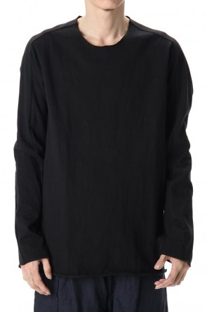 WARE 20SS Medium Jersey Cotton L/S T-Shirts Black