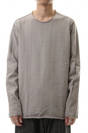 WARE 20SS Cotton Crew Neck L/S T-Shirts L.Gray