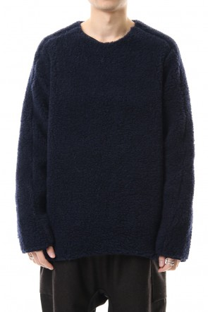 WARE 19-20AW Wool Boa Crew Neck Knit