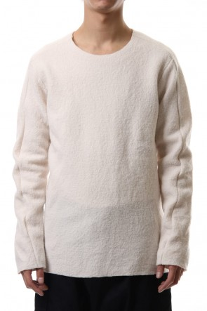 WARE 19-20AW Boucle L/S Knit White