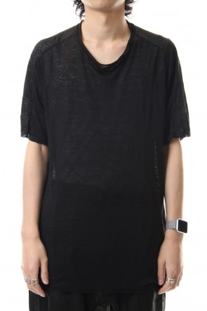 WARE 19-20AW Linen Jersey T-shirts Black