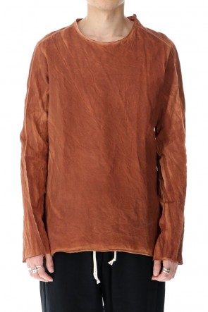 warePersimmon astringent dyeing Cotton Long Sleeve T-Shirts