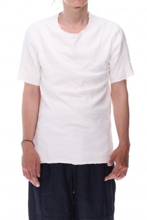 WARE  Dual-Layered Fabric Cotton T-Shirts Off White