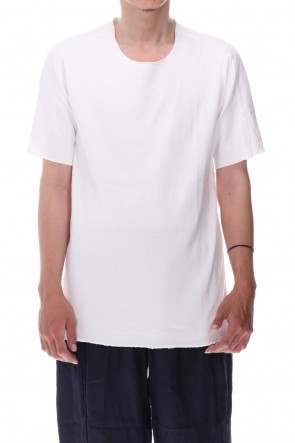WARE  Dual-Layered Fabric Cotton T-Shirts White