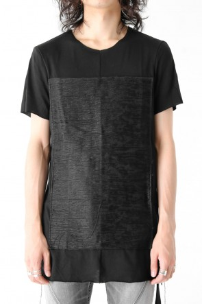 Kimono Distressed Jacquarded Patched Short Sleeve