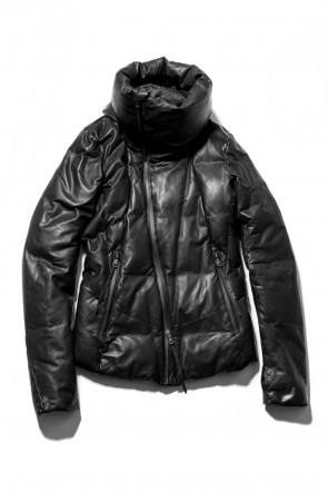 Water Proof Lamb Leather Hooded Down Jacket