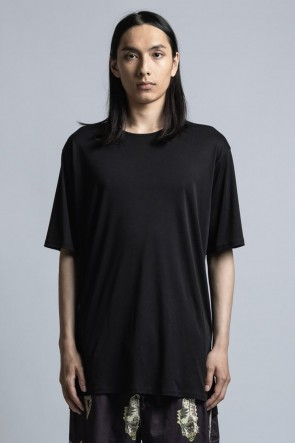 The Viridi-anne 21SS Cotton Smooth Half Sleeve T-Shirt Black
