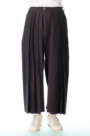 JAN-JAN VAN ESSCHE 21SS TROUSERS#62 INK RAMIE/COTTON BATIST