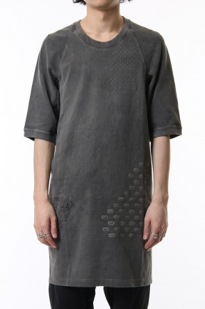 11 BY BORIS BIDJAN SABERI 19SS Reflector print & embroidery T-shirt (Black)