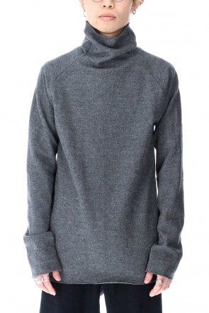 ware Classic Wool Bottle Neck Knit D.Gray