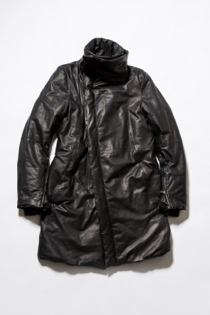 Water Proof Lamb Leather High Neck Coat